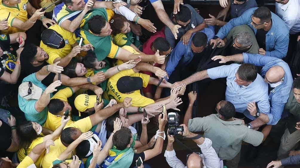 """Stédile negó que la mayoría de sus compatriotas de credo evangélico apoye hoy al excapitán del Ejército, y además aseguró que """"al 70%"""" de los miembros de la Policía Militar """"no les gusta Bolsonaro"""". Foto: AFP."""