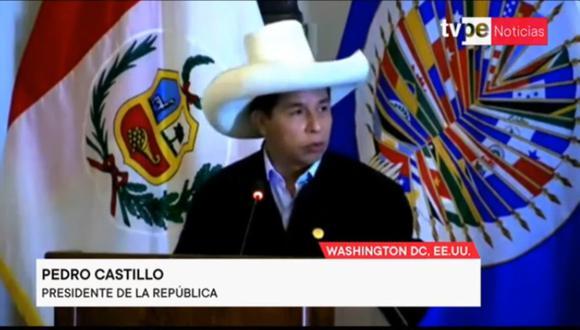 """Perú. Pedro Castillo en la OEA: """"No somos comunistas, no hemos venido a expropiar a nadie"""" (video completo)"""
