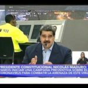 Maduro: El coronavirus puede ser una cepa creada para la guerra biológica contra China