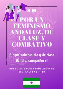 """""""8M. Por un feminismo andaluz, de clase y combativo"""" – La otra Andalucía"""