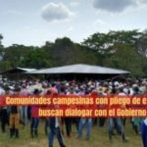 Colombia. Comunidades campesinas con pliego de exigencias buscan dialogar con el Gobierno Nacional