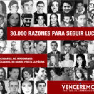 Argentina. 24 de marzo. Venceremos: «Seguimos luchando por el proyecto de los/as 30.000»