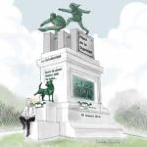 Chile. Militantes de la Revuelta desinfectaron el sitio de la Plaza de la Dignidad donde el viernes Piñera se sacó una foto (video)
