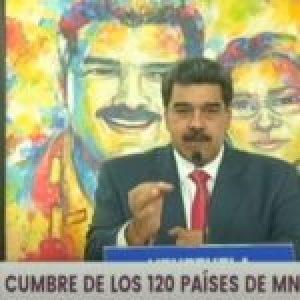 Venezuela. Maduro en la cumbre del MNOAL denuncia la violencia de los Estados Unidos