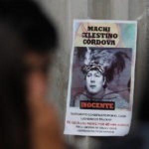 Nación Mapuche. Empeora dramáticamente la salud del Machi Celestino Córdova, prisionero político en huelga de hambre