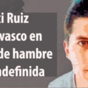 Euskal Herria. El Premio Nobel de la Paz, Adolfo Pérez Esquivel y varias Madres de Plaza de Mayo, se solidarizan con el preso político vasco Patxi Ruiz, que lleva 10 días de huelga de hambre y sed