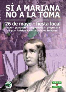"""Nación Andaluza ante el día de Mariana Pineda """"Sí a Mariana, no a la Toma. 26 de mayo fiesta local"""" – La otra Andalucía"""