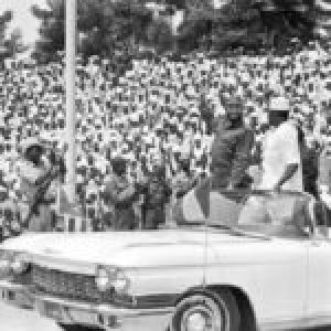Africa. Primera visita de Fidel al continente africano