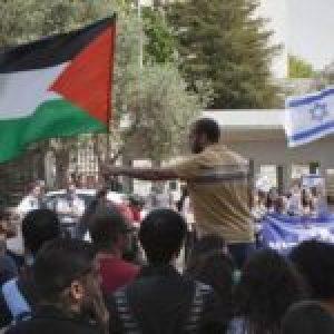 Palestina. Estudiantes palestinos luchan contra la militarización de la Universidad Hebrea