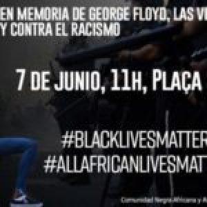 España. Convocatorias de la Comunidad Negra Africana y Afrodescendiente en memoria de George Floyd