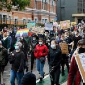Australia. Protestas contra racismo y brutalidad policial en EE.UU.