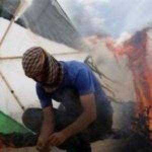 Palestina. Palestinos se enfrentan al ejército de ocupación israelí en Nablus