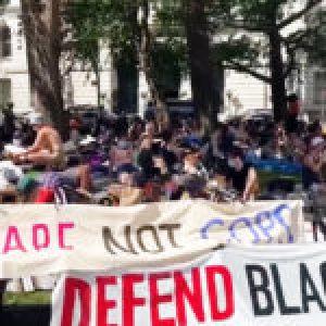 Estados Unidos. Campamento en Nueva York, exigen recortes a la Policía