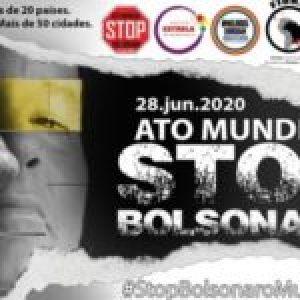 Brasil. Convocatoria internacional para el domingo 28 de Junio. #StopBolsonaroMundial
