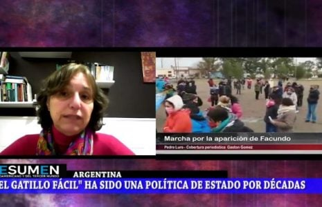Programa de Resumen Latinoamericano tv: Argentina. Facundo Astudillo Castro, otra desaparición forzada