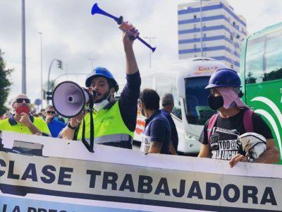 Más de un millar de trabajadores se movilizan para pedir más carga de trabajo – La otra Andalucía