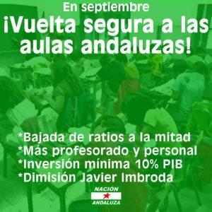 Nación Andaluza por una vuelta segura a las aulas andaluzas en septiembre – La otra Andalucía