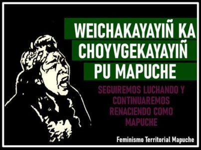 Nación Mapuche. Feminismo Territorial Mapuche: repudio al accionar represivo