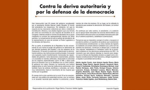 """México. Una carta y el cinismo """"intelectual"""""""