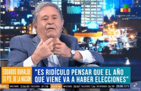 Argentina. Repudio enérgico a las irresponsables declaraciones de Eduardo Duhalde