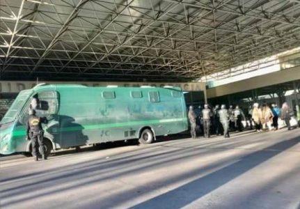 Nación Mapuche.Prisioneros Mapuche de Lebu son trasladados a cárcel de Concepción