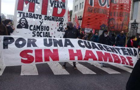 Argentina. Otra vez las organizaciones sociales se movilizaron a nivel nacional exigiendo alimentos para comedores populares