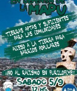 Nación Mapuche. Bariloche: Olla Popular en defensa de la Mapu