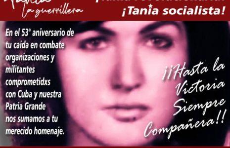 """Cuba. Homenaje a Tania en Argentina: """"La guerrillera que luchó junto al Che"""" (video)"""