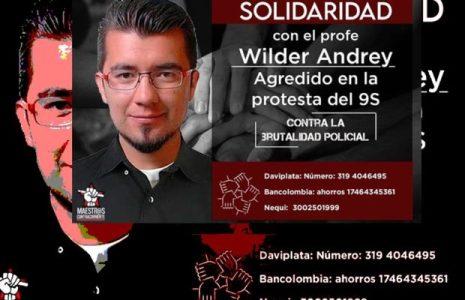 Colombia. Solidaridad con defensor de DDHH luego de brutal golpiza de la Policía