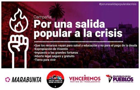 Argentina. Campaña «por una salida popular a la crisis» // Documento de varias organizaciones sociales