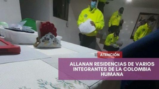 Colombia. Allanan viviendas de varios integrantes del movimiento Colombia Humana