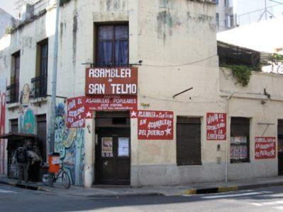 Argentina. Allanaron Comedor popular y la sede de las Asambleas del Pueblo en el barrio de San Telmo