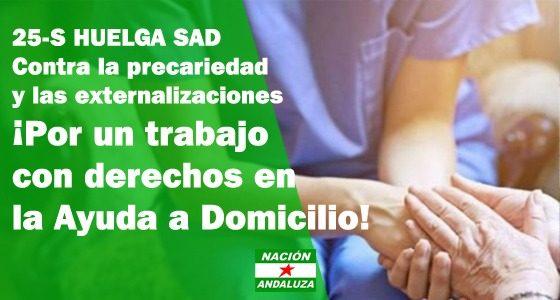 Nación Andaluza ante la huelga de Ayuda a domicilio¡Con las trabajadoras de Ayuda a Domicilio en huelga!