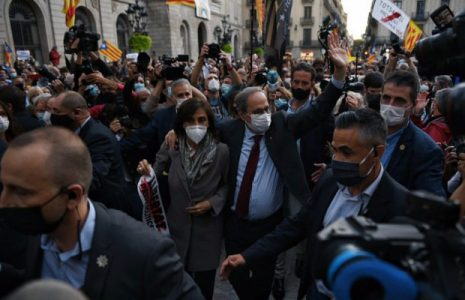 """Catalunya. Después de ser inhabilitado, el ex jefe del Gobierno Quim Torra apela a """"la ruptura democrática"""" como única vía para conseguir la independencia"""