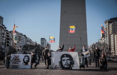 Argentina. Actividad de ALBA Movimientos por la Jornada Internacional de Lucha Antiimperialista (fotos)