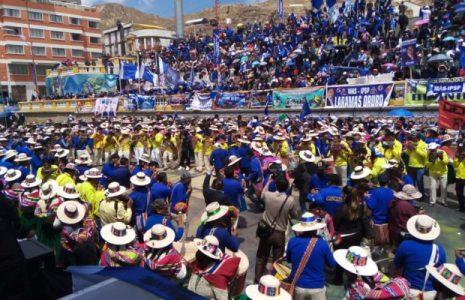 Bolivia. Elecciones 2020: El pueblo de Oruro cantó presente para apoyar al MAS-IPSP y derrotar a la dictadura (videos+fotos)