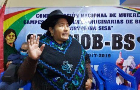 Bolivia. La Confederación de Mujeres Bartolina Sisa destaca el trabajo de las organizaciones campesinas para el triunfo
