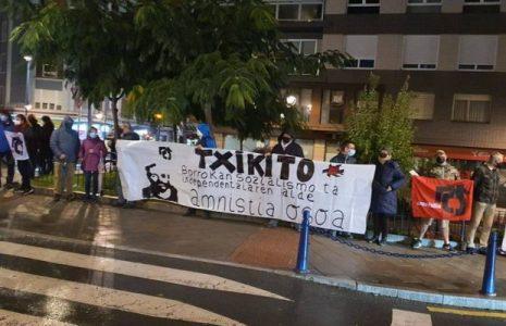 Euskal Herria. Convocan movilizaciones en solidaridad con «Txikito», preso vasco en huelga de hambre y sed