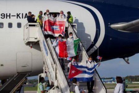 Cuba. En Italia piden el retorno de la brigada médica