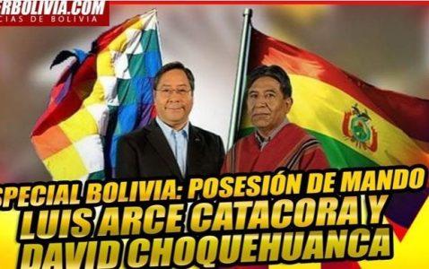 Bolivia. Link de la trasmisión en vivo de la toma de posesión del gobierno plurinacional