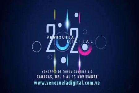 Venezuela. Este lunes dará comienzo el congreso de comunicadores Venezuela Digital 2020
