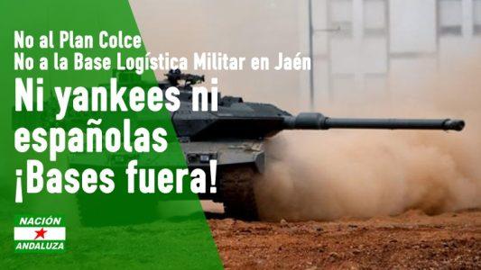 Jaén: Nación Andaluza rechaza el apoyo unánime del Parlamento al establecimiento de una base militar