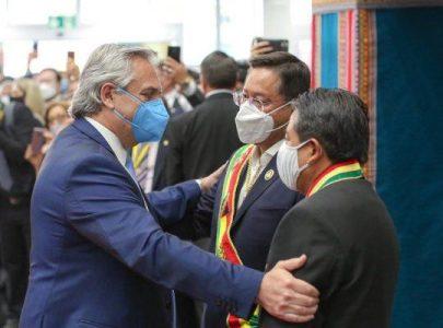 Bolivia.  Alberto Fernández: «Es un día muy importante, se recupera la democracia»