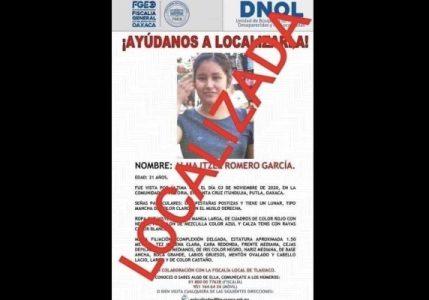 México. Encuentran sin vida a joven desaparecida en Oaxaca