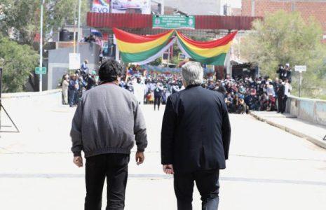 Bolivia. Evo volvió: Alberto lo despidió en La Quiaca en su regreso a su país  (fotos)