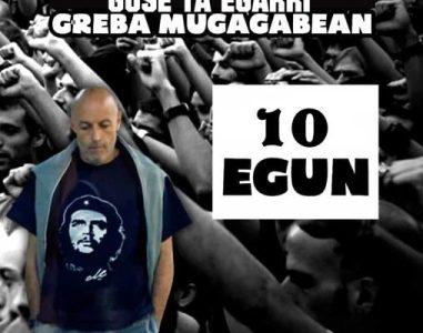 Euskal Herria. Más concentraciones solidarias con el preso político vasco Iñaki Bilbao «Txikito», que ya lleva casi dos meses de huelga de hambre y diez días de huelga de sed