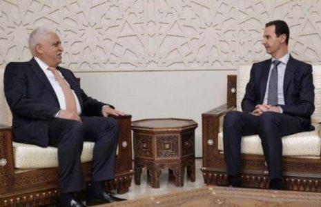 Siria. Assad se reúne con el jefe de Hashid al Shaabi de Iraq
