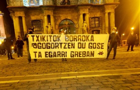 Euskal Herria. El preso vasco Iñaki Bilbao («Txikito») continúa la huelga de hambre y comunicación /En la calle concentraciones y sabotajes