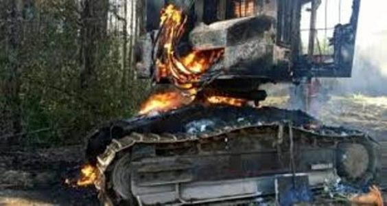 Nación Mapuche. Órgano de Resistencia Territorial se adjudica ataque incendiario a faena forestal en Mulchén