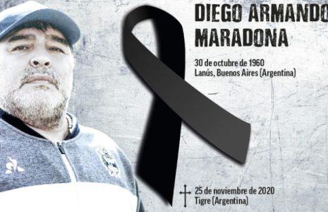 Argentina. Alba Movimientos despide a Diego Maradona